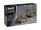 Char B.1 bis and Renault FT.17, 1:76