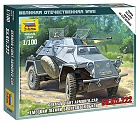 Zacvakávací model Sd. Kfz. 222 Armored Car, 1:100