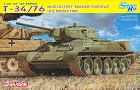 "Tank T-34/ 76 No.112 Factory ""Krasnoe Sormovo"" Late Production ( Smart Kit ), 1:35"