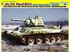 Tank T-34/ 76 Mod.1943 W/ Commander Cupola No.112 Factory, 1:35
