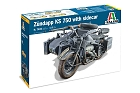 Zundapp KS 750 with sidecar, 1:9