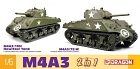 M4A3 105mm Howitzer Tank/ M4A3 (75)W 2in1, 1:6